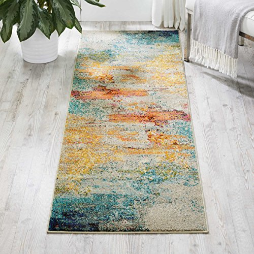 Nourison Celestial Modern Watercolor Area Rug Runner, 2'x6', Multicolor -