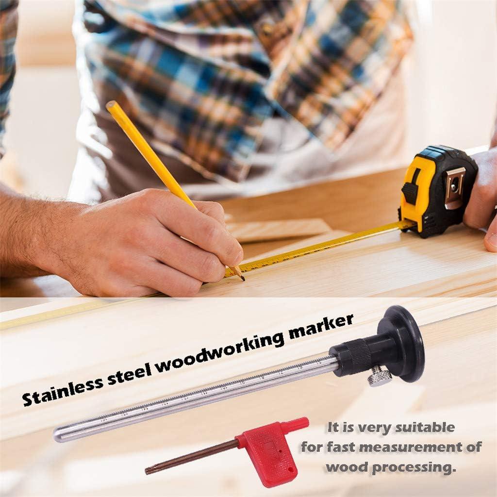 ToDIDAF Marking Gauge Woodworking Scribe Marking Line Compasses Calipers Tool Scriber Mark Scraper Marking Guage Instrument Screwdriver Tool