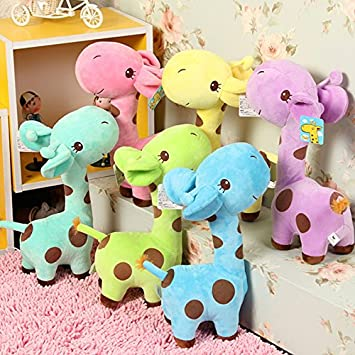 Babique Giraffe Animal Soft Toy for kids birthday Gift 25 cm (1 pc, Assorted Color)
