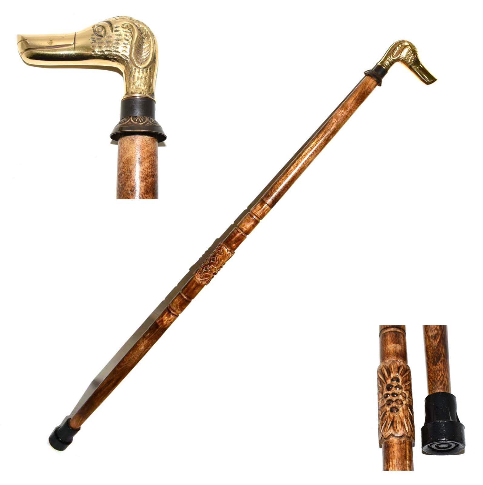 Nautical Gift Decor Dog Head Handle Walking Stick - Classic Style Wooden Canes and Walking Sticks for Men and Women