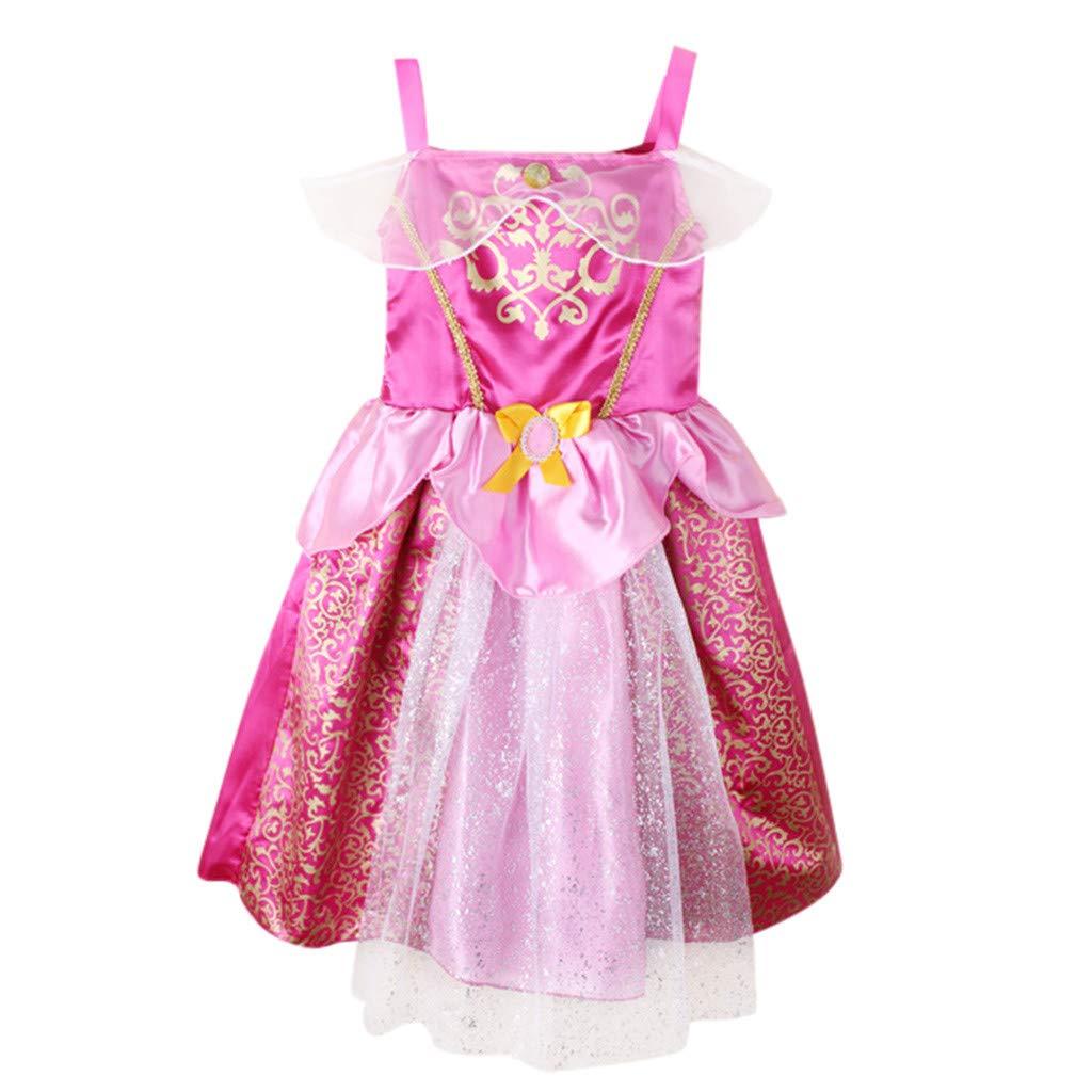 WUSIKY Sommerkleid Kleinkind Kind Mädchen Baby Patchwork Prinzessin Bling Kostüme Party Tutu Kleider Elegant Lässige Mode Tutu Rock Minikleid Party Kleid Kinder Geschenk