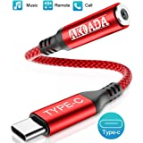 USB C to 3.5mm Headphone Jack Adapter, AkoaDa Type C to Audio Converter Nylon Cable Compatible with Samsung Galaxy S20 Ultra