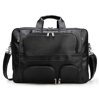 1d0177bf70 Tiding Soft Real 17 inch Leather Laptop Bag Messenger Business Briefcase  Crossbody Bag for Men