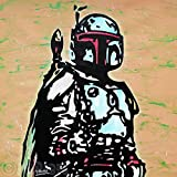 MR.BABES - ''Star Wars: Boba Fett'' - Original Pop Art Painting - Movie Portrait