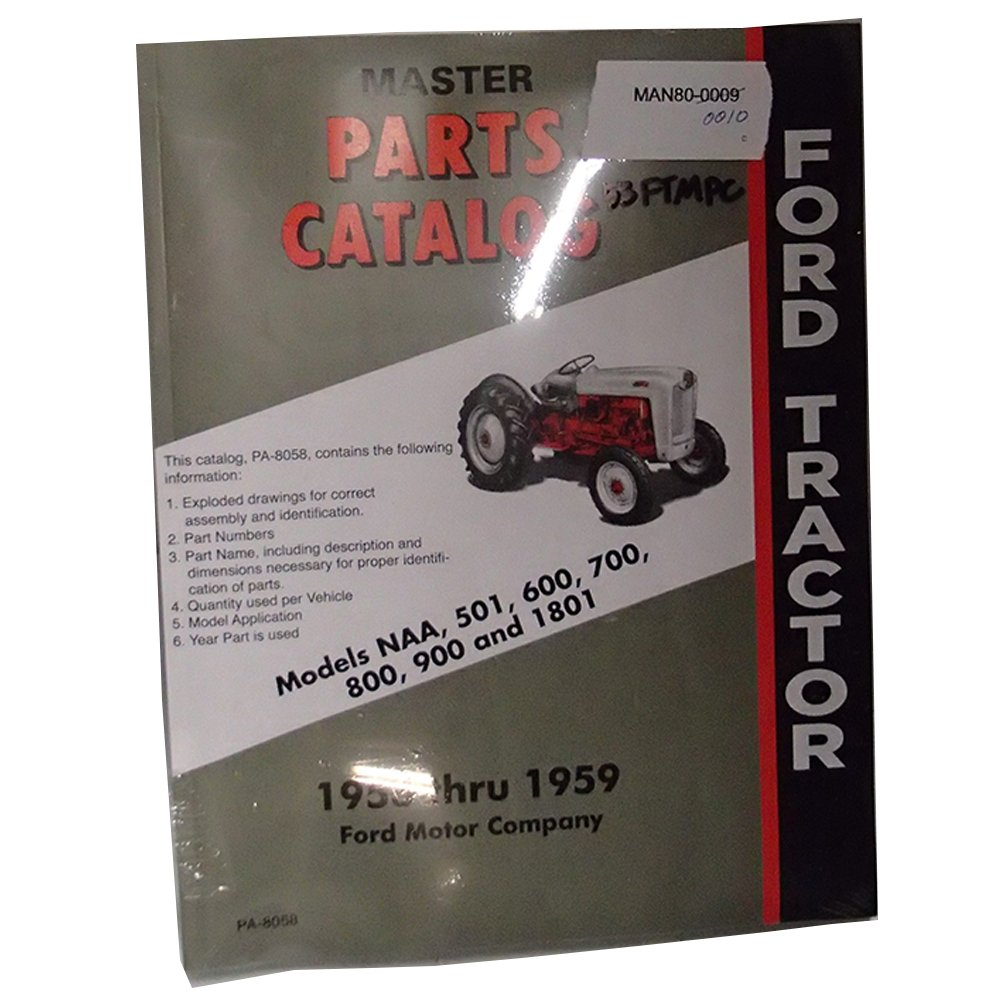 Amazon.com: 53FTMPC Tractor Master Parts Catalog for Ford Tractor ...
