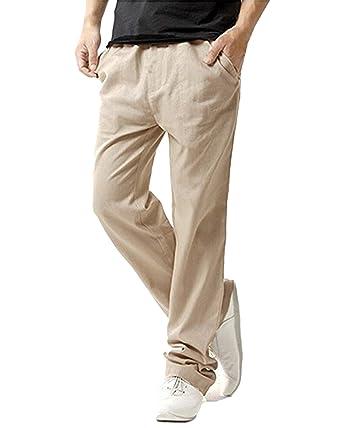 7d7e532ca42 MODCHOK Homme Pantalons Jogging Long Pants Loose Coupe Droite Survêtement  Sport - Beige - Taille S