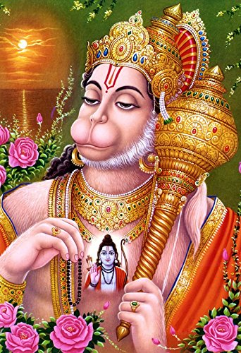 ram bhakth hanuman ji hd quality poster on fine art paper 13x19