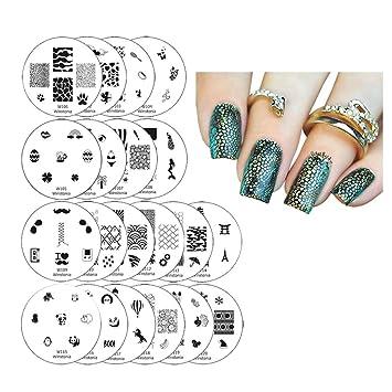 Amazon Winstonia 20 Pc Nail Art Stamp Stamping Image Plate Set