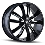 "Mazzi OBSESSION 366 Gloss Black/Machined Face Wheel with Machined Finish (20x8.5""/5x114.3mm, 35mm Offset)"
