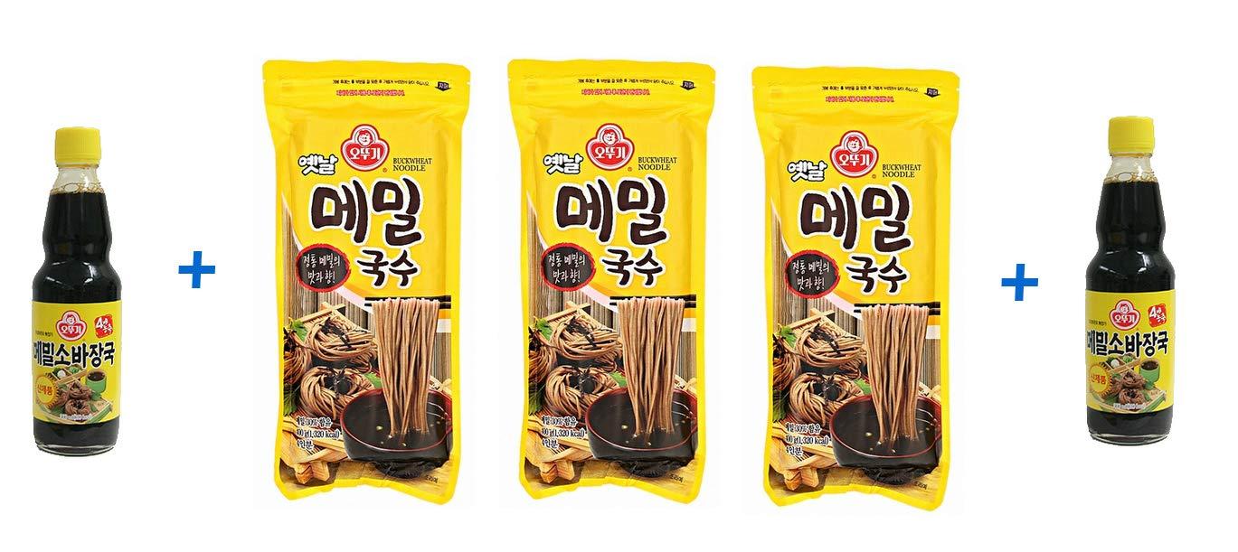 Ottogi Buckwheat Noodle & Sauce Set: 3 Noodles(cada noodle ...
