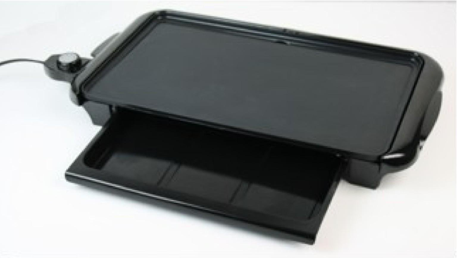 Nostalgia Electrics&8482 Ngd200 Non-Stick Griddle With Warming Drawer Nostalgia Electrics Ngd-200 Non-Stick Griddle With Warming Drawer