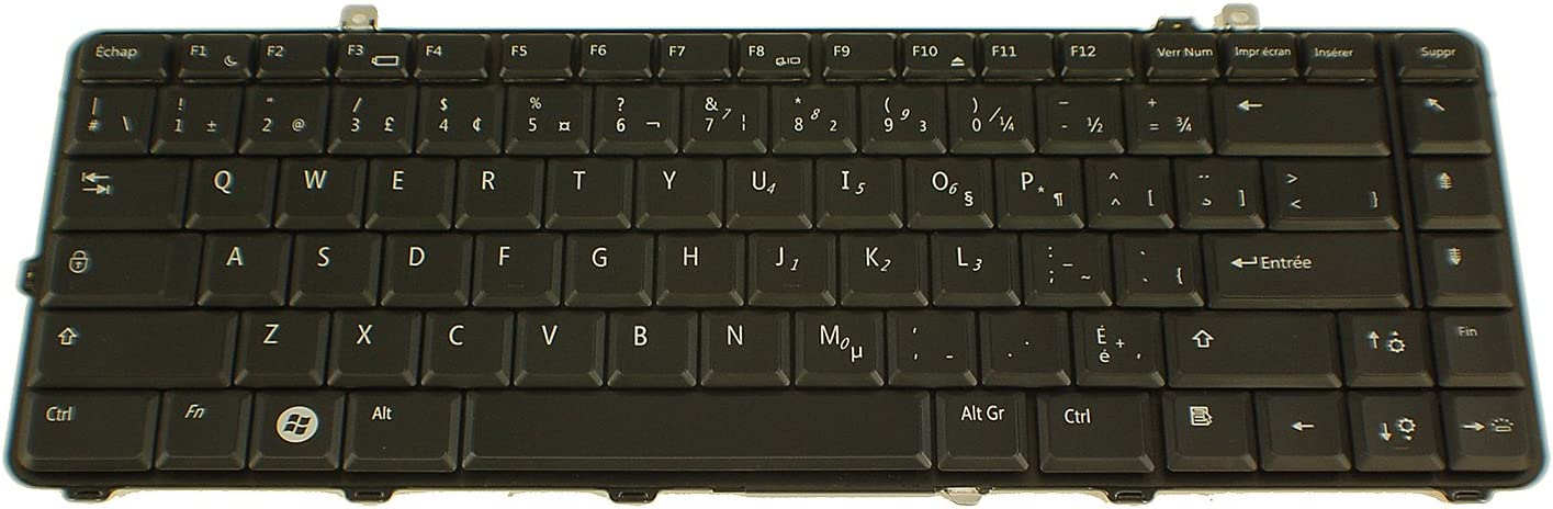 Dell New Genuine OEM Laptop Keyboard Studio 15 1535 1536 1537 French Canadian DW479 NSK-DC10M Replacement Keypad Backlight Light Illuminated