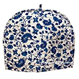 Home Decorative Cotton Creative Tea Cosy Indian Mandala Tea Cozies Tea Pot Cover Dark Blue Print Tea Cozy (Blue & White New)