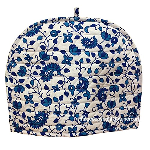 Blue White Cotton Handmade Designs Tea Cozy Creative Tea Cosy Indian Mandala Tea Cozies Tea Pot Cover