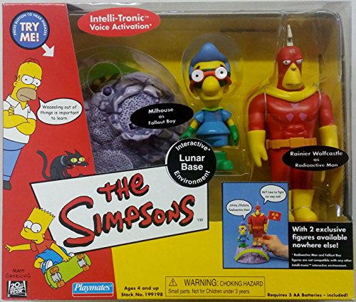 The Simpsons Lunar Base Playset with Radioactive Man (Rainier Wolfcastle) and Fallout Boy (Millhouse)