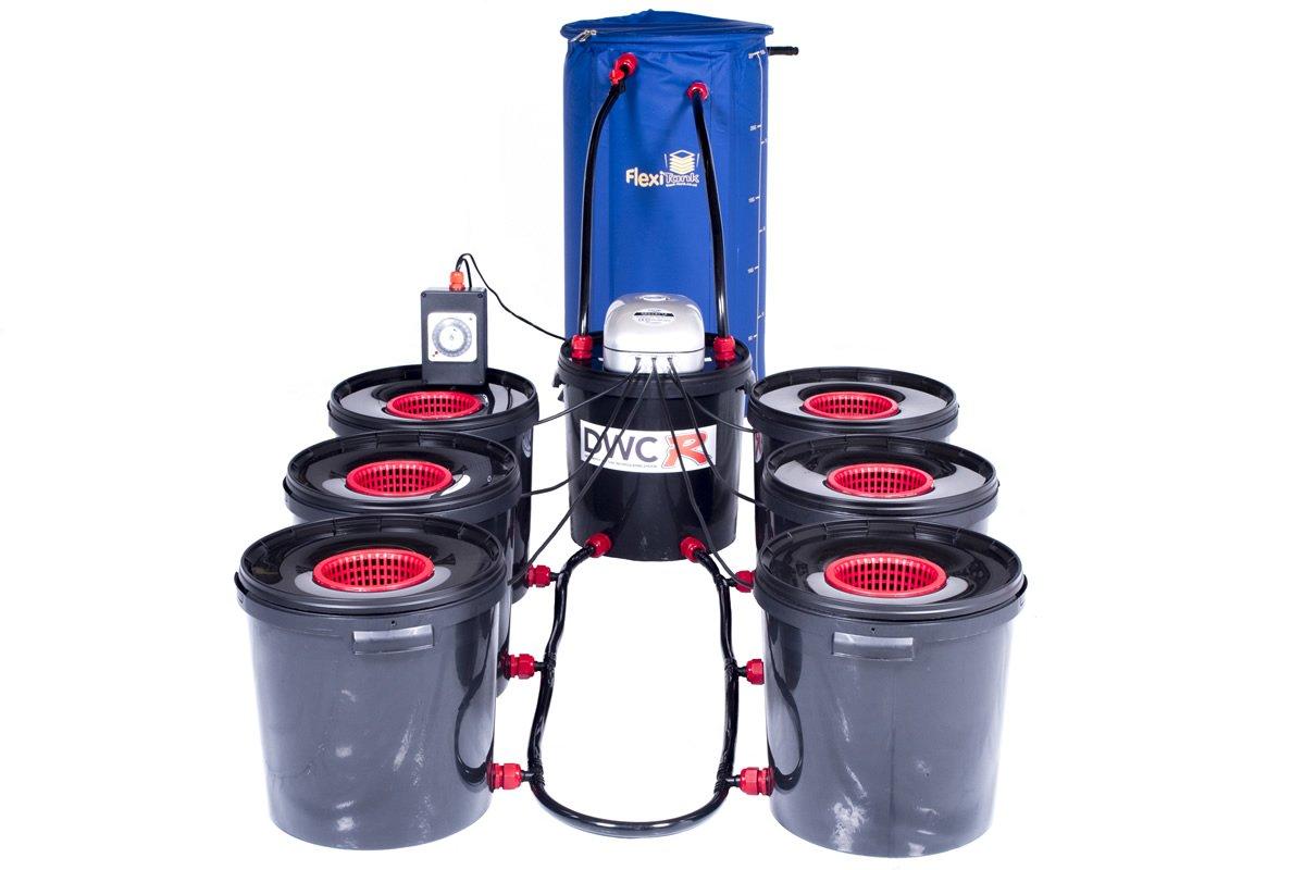 6 Pot DWC R Bubble Pot Hydroponic Deep Water Culture System