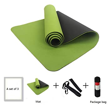 Amazon.com : Chiced 6MM No-Slip Yoga Mat TPE Sport Yoga ...
