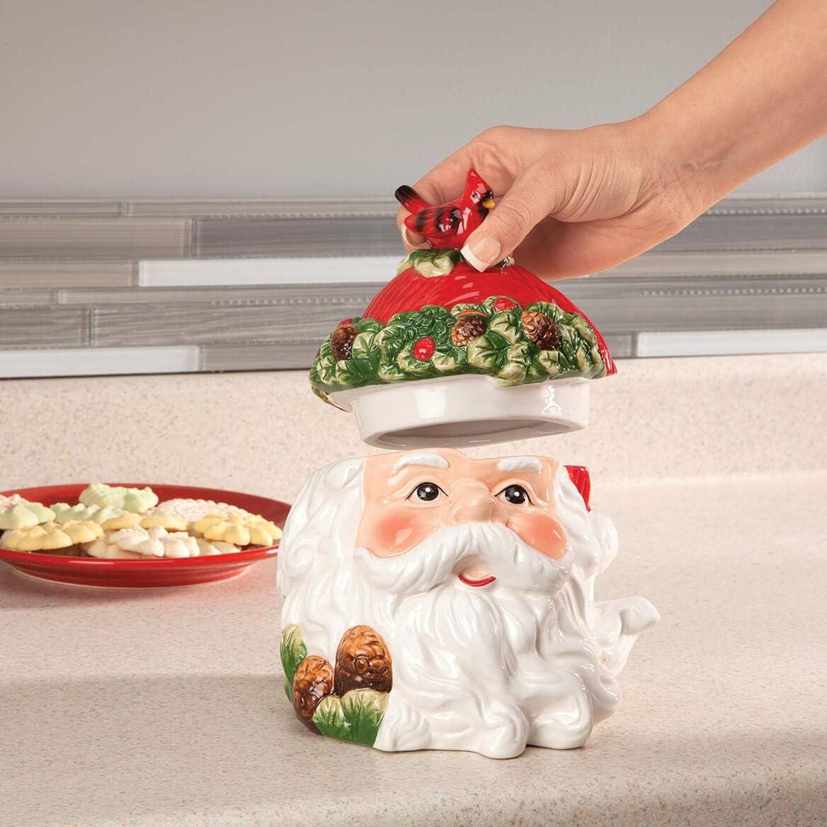 Holiday Santa Cookie /& Treat Jar