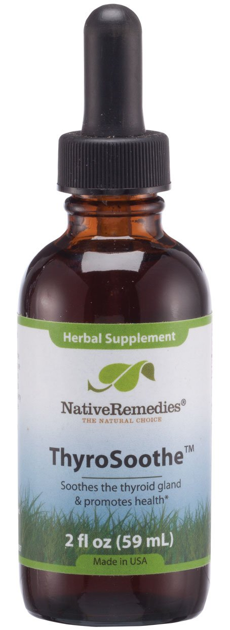 Native Remedies ThyroSoothe - All Natural Herbal Supplement Soothes The Thyroid Gland - Supports Systemic Balance in The Endocrine System and Thyroid Gland - 59 mL by Native Remedies