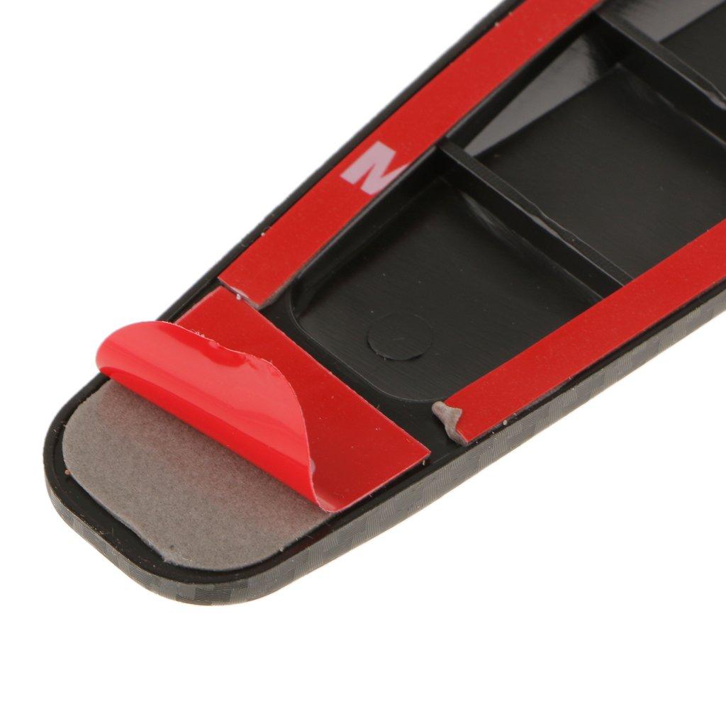 2pcs autocollant protecteur en fibre de carbone voiture anti rayures bande de protection de pare. Black Bedroom Furniture Sets. Home Design Ideas