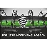 borussia m nchengladbach fahne 45x116cm gladbach fanartikel sport freizeit. Black Bedroom Furniture Sets. Home Design Ideas