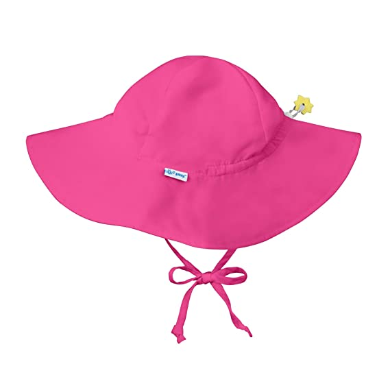 I Play Unisex Baby Solid Brim Sun Protection Hat Light Pink 12-18 Months