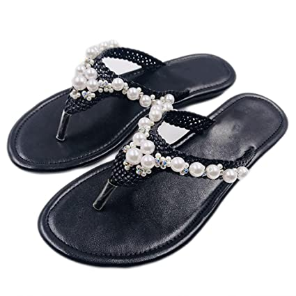 XIAOLIN Estate Sandali Pattini e sandali coreani delle signore Talloni di  clip antisdrucciolevoli Pattini della spiaggia
