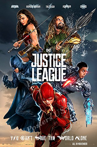 Posters USA DC Justice League 2017 Movie Poster GLOSSY FINIS