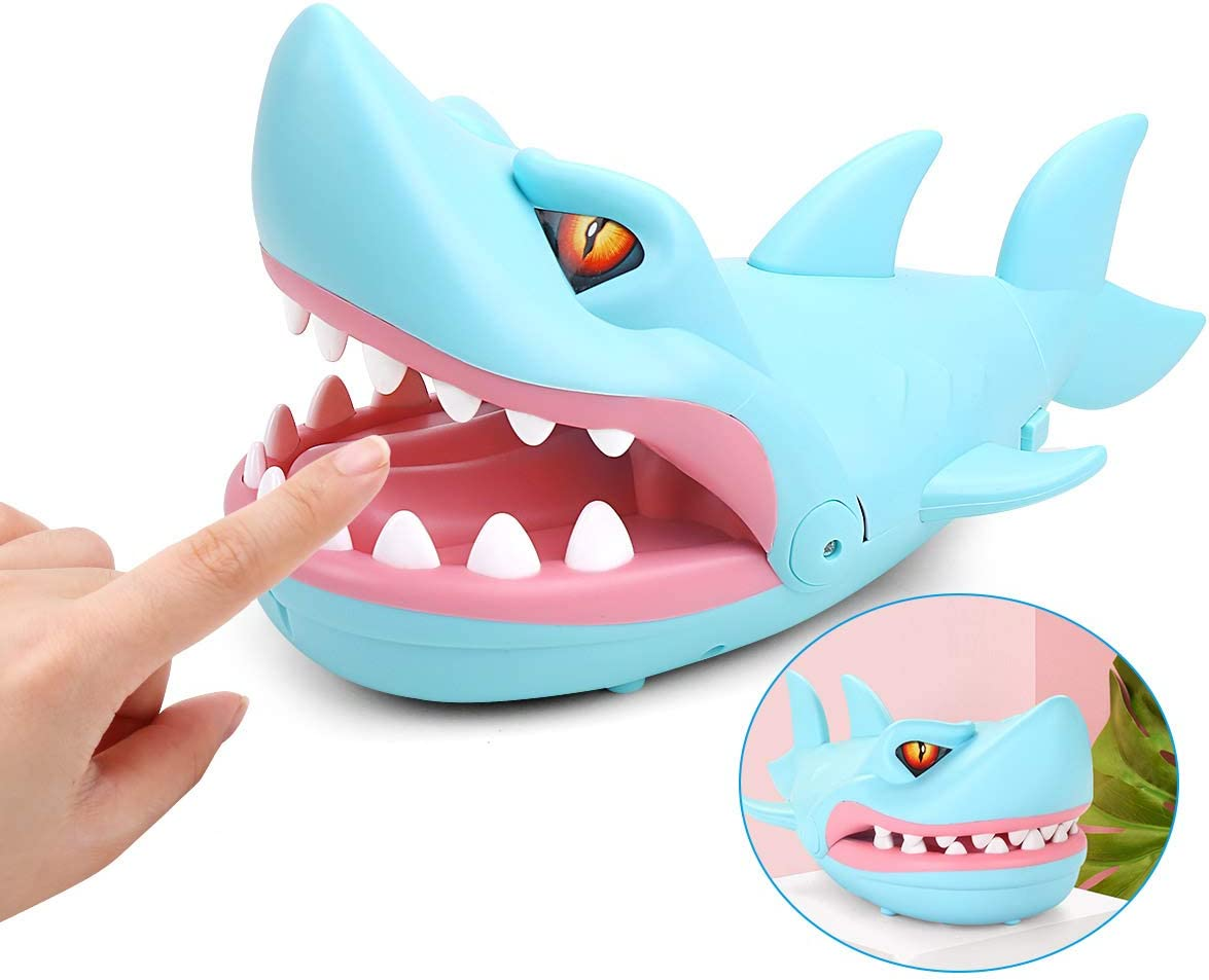 SubClap Dentist Game Biting Finger Practical Jokes Toys, Family Tricky Game Toy ,Blue