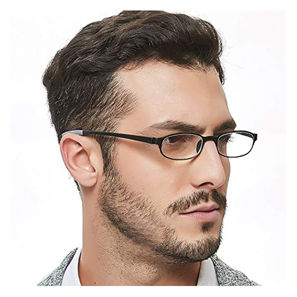 OCCI CHIARI Thin TR90 Rectangular Reading Glasses for Men Wowen Magnification 1.5 2.0 2.5 3.0 51-20-135 1.0) W-DSRRA-B100