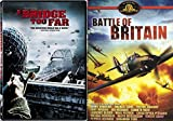A Bridge Too Far & Battle of Britain DVD War 2 Pack Military Movie Action Set