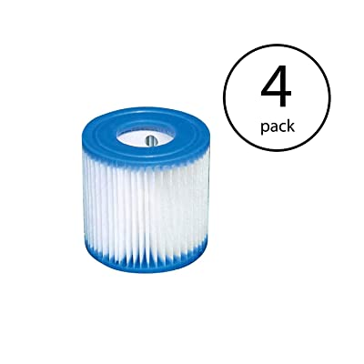Intex Swimming Pool Easy Set Filter Cartridge Replacement - Type H (4 Pack) : Garden & Outdoor