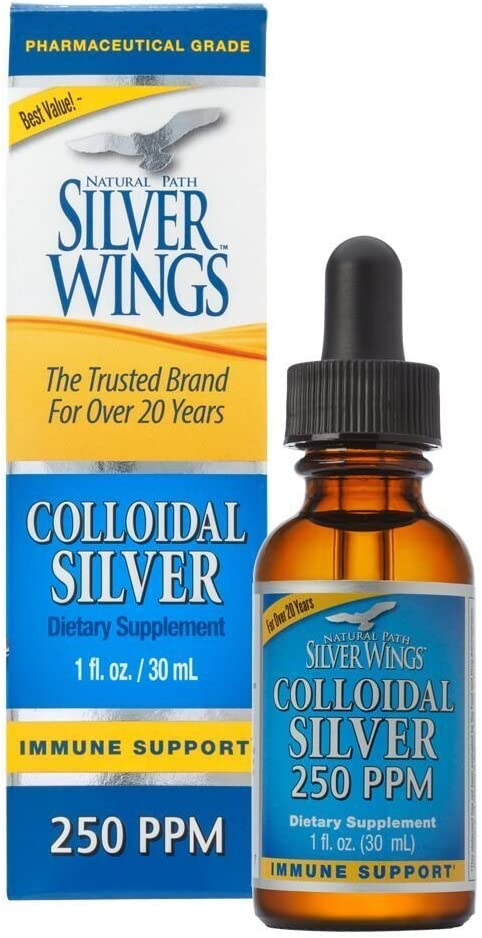 Natural Path Silver Wings Colloidal Silver Mineral Supplement, 250 Ppm, 1 Fluid Ounce: Health & Personal Care