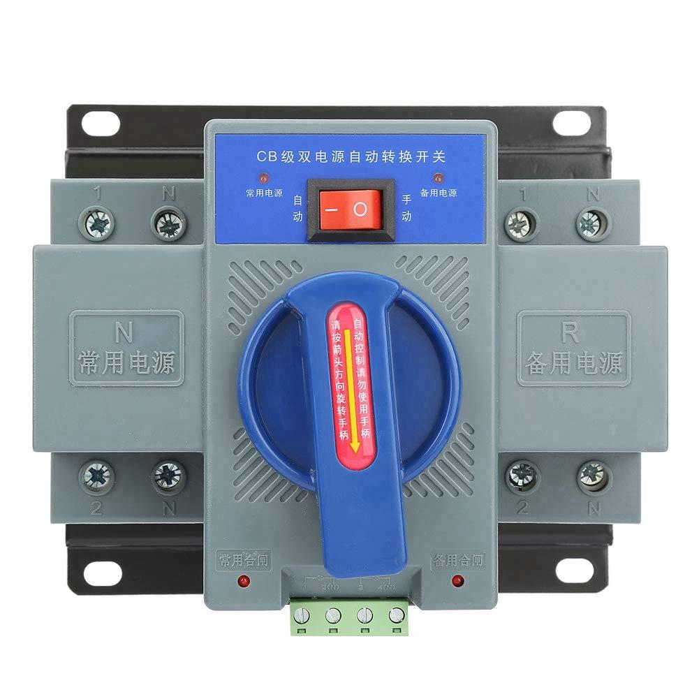 1PCS Power Switch,Mini 63A 2P Dual Power Automatic Transfer Switch