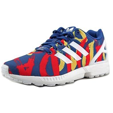 adidas zx flux rouge et bleu