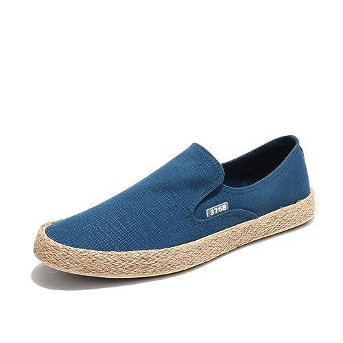 Hombres Casual Zapatos Verano Moda Hombres Lona Zapatos Alpargatas Slip on Transpirable Mocasines Hombres Zapatos Pisos: Amazon.es: Zapatos y complementos