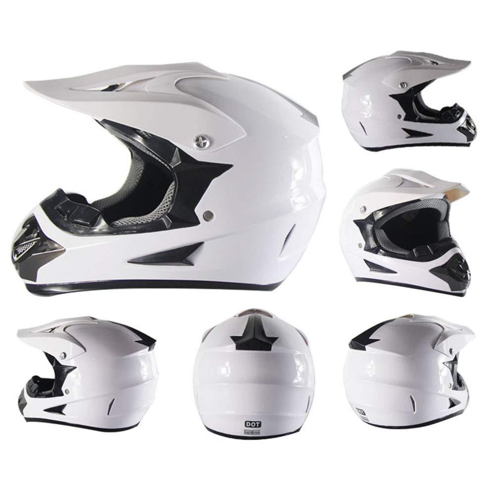 LICIDI Casco de Motocicleta Cascos Cruzados Casco de Seguridad Motocross Casco para Moto Crossbike Off Road Enduro Deporte con Guantes Sorpresa máscara y ...