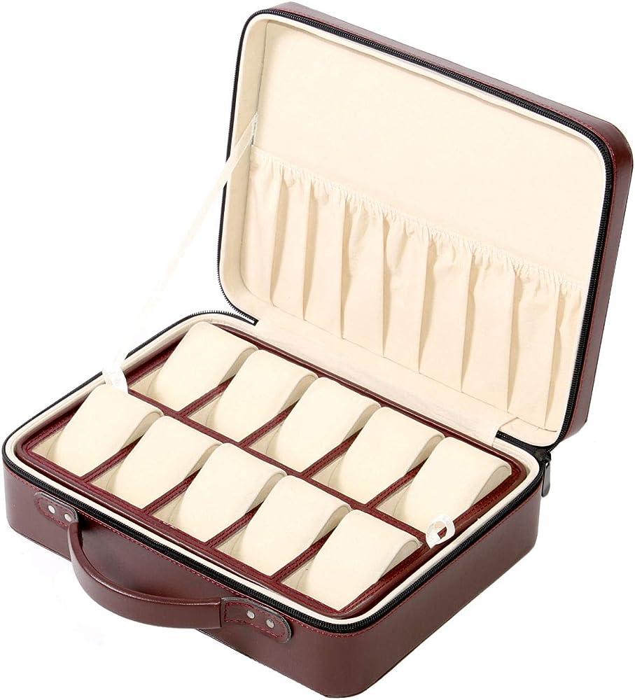 Campione Collections maletín relojes de viaje caja funda caja para ...