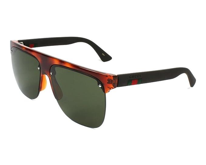 Gucci GG0171S 003, Gafas de Sol para Hombre, Marrón (3/Green), 60: Amazon.es: Ropa y accesorios