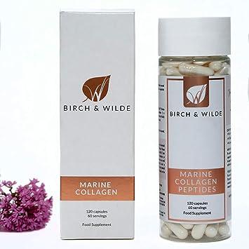 COLÁGENO MARINO cápsulas suministro para 60 días de 1200mg   Péptidos de colágeno hidrolizado premium de alta potencia   Cápsulas de suplemento de salud   Apoyo para piel, pelo, uñas, articulaciones: Amazon.es: