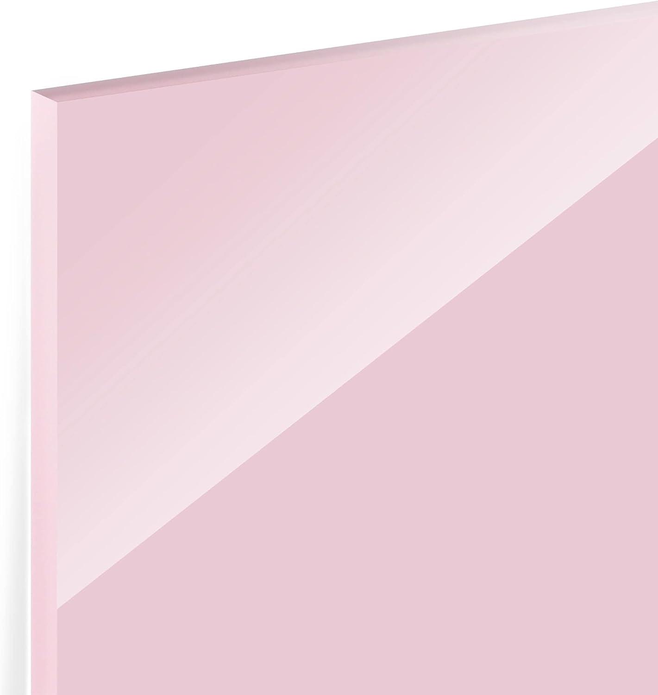 HxB: 40cm x 80cm Quer 1:2 Ros/é Bilderwelten Spritzschutz Glas