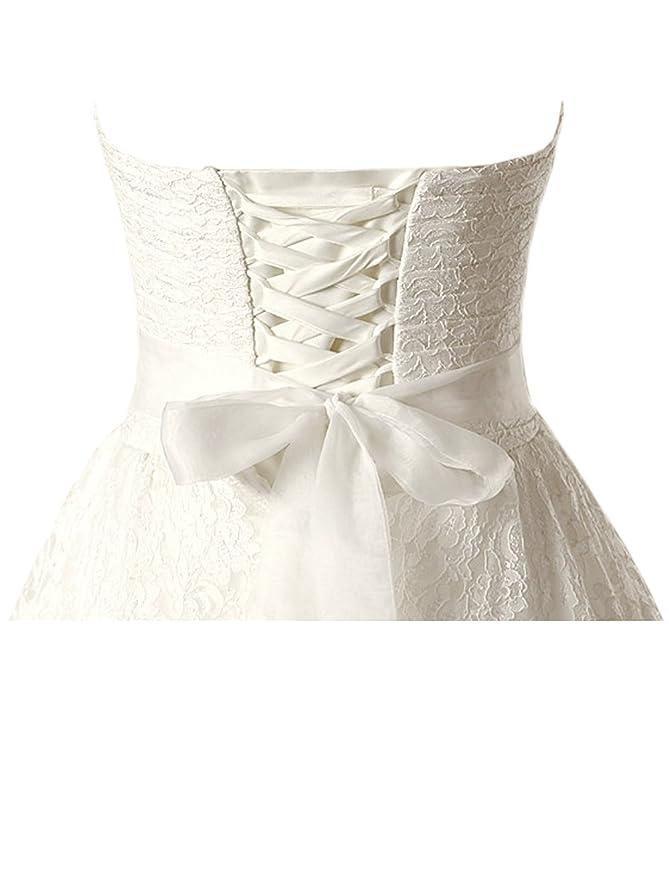 Solovedress vestido de fiesta de las mujeres de encaje de la princesa vestido de novia 2017 Sash con cuentas vestido de fiesta de novia: Amazon.es: Ropa y ...