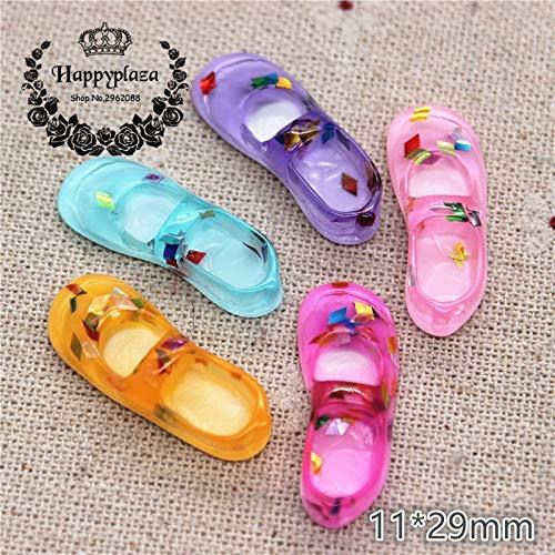 - ZAMTAC 20pcs Cute Mix Colors Resin Girl Shoes Miniature Figurines Art Flatback Cabochon DIY Craft Decoration,1129mm