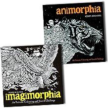 Animorphia and Imagimorphia An Extreme Colouring and Search Challenge 2 Books Collection
