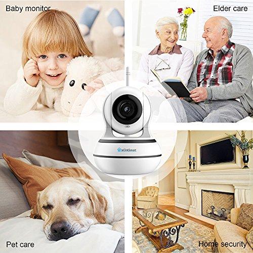 WiFi Security Camera eLinkSmart Pan/Tilt/Zoom Home 960P HD Night Detection Way Video