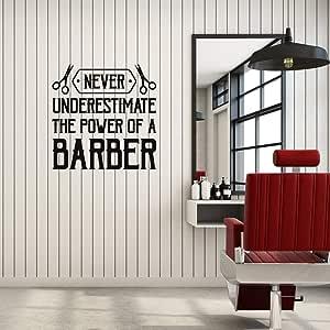 Ajcwhml Apliques de Pared de Vinilo Barber Quotes Barbershop Hair ...