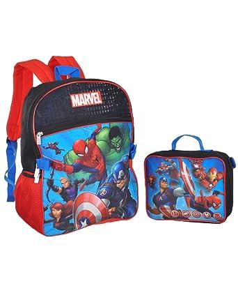 Mochila Avengers Squad Up con Lunchbox: Amazon.es: Ropa y ...