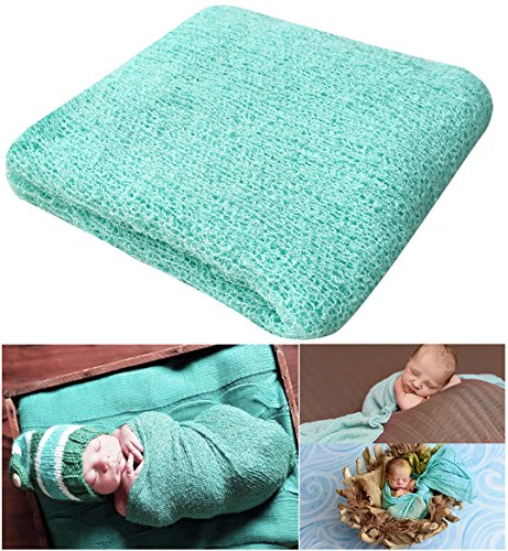 Newborn Photography Props Newborn Baby Stretch Long Ripple Wrap Yarn Cloth Blanket by Bassion Image