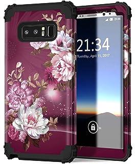 1f318c7582 Hocase Galaxy Note 8 Case, Heavy Duty Shockproof Hard Plastic+Silicone  Rubber Bumper Dual