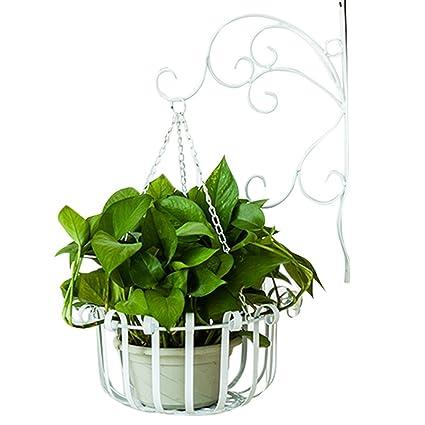 Ornate Hanging Basket Strong Metal Hanging Bracket Flower Plant Pot Can Bucket